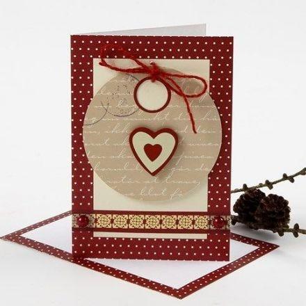 Postal de Navidad con etiqueta y decoración Vivi Gade