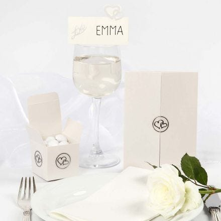 Decoraciones de boda con lentejuelas y adhesivos románticos