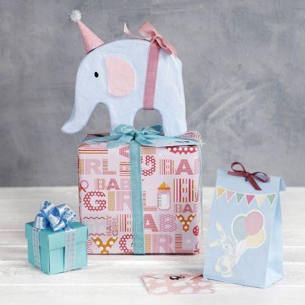 Baby Shower envoltorio con decoraciones