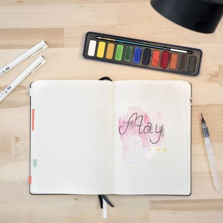 Un Bullet Journal con Acuarelas
