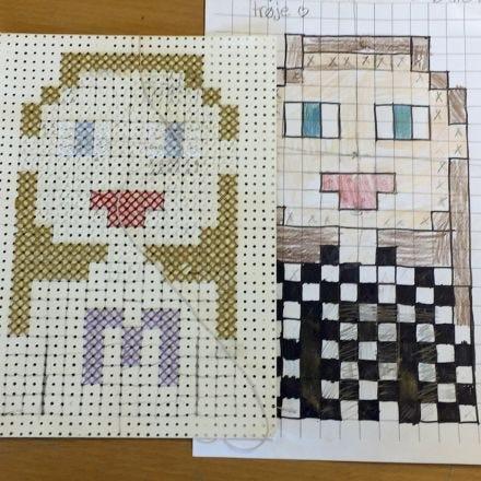 Pixel Art con puntos de cruz