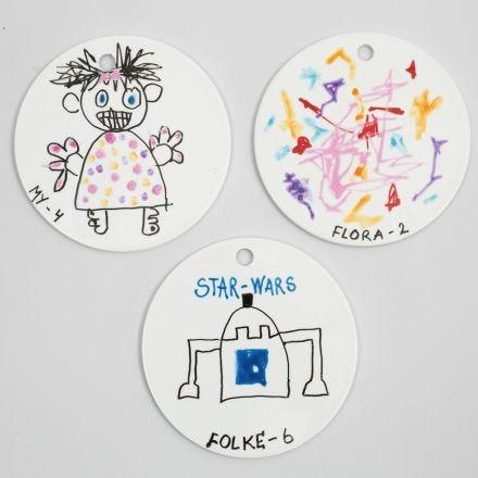 Platos de terracota decorados con rotuladores para porcelana y cristal