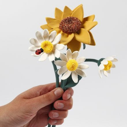 Sunflowers and Daisies made from Silk Clay
