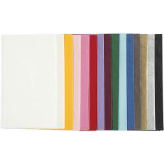 Papel de seda, 50x70 cm, 17 gr, surtido de colores, 15x2 hoja/ 1 paquete