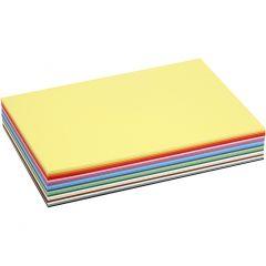Cartulina kraft coloreada, A4, 210x297 mm, 180 gr, surtido de colores, 30 hojas stdas/ 1 paquete