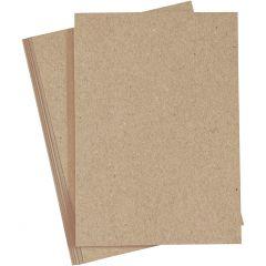 Tarjeta, A4, 210x297 mm, 220 gr, natural, 10 ud/ 1 paquete
