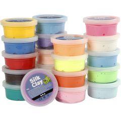 Silk Clay® , surtido de colores, 20x40 gr/ 1 paquete