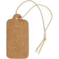 Etiqueta, medidas 15x30 mm, marrón claro, 100 ud/ 1 paquete