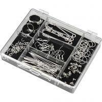 Jewellery Finding Starter Kit, plateado, 1 set