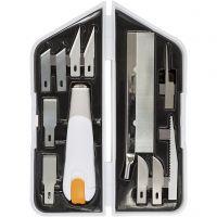 Set de cortar y vaciar, L. 15 cm, A: 3 cm, 1 set