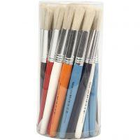 Pinceles de pintura para niños, Redondo, L. 19 cm, A: 15 mm, 30 ud/ 1 paquete