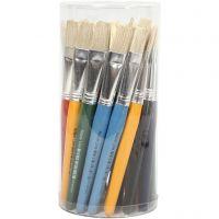 Pinceles de pintura para niños, plano, L. 19 cm, A: 15 mm, 30 ud/ 1 paquete