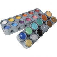 Paleta de pintura facial a base de agua, surtido de colores, 24x15 ml/ 1 paquete