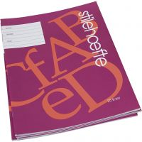 Cuaderno de ejercicios con papel a rayas, A4, medidas 21x29,7 cm, 32 , 25 ud/ 1 paquete