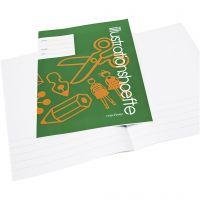 Cuaderno de ejercicios con espacio para fotos , A4, medidas 21x29,7 cm, 32 , 25 ud/ 1 paquete