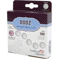 Dodz: puntos adhesivos, dia: 12 mm, grosor 2 mm, 100 ud/ 1 paquete
