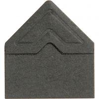 Esquineros para fotos, A: 10 mm, 110 gr, negro, 108 ud/ 1 paquete