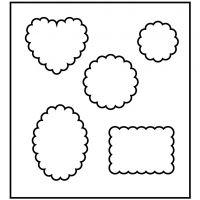 Troquel de formas, Formas con borde de galleta, medidas 14x15,25 cm, grosor 15 mm, 1 ud