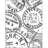 Placa de embossing, Sello postal, medidas 11x14 cm, grosor 2 mm, 1 ud