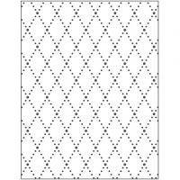 Placa de embossing, Rombos, medidas 11x14 cm, grosor 2 mm, 1 ud