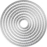 Carpeta troquel y grabado en relieve, Círculos, dia: 1,5-7 cm, 1 ud