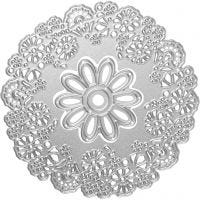 Carpeta troquel y grabado en relieve, Flores, dia: 10,5 cm, 1 ud