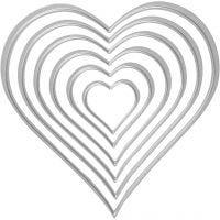 Carpeta troquel y grabado en relieve, Corazón, medidas 2,5x3-10x11 cm, 1 ud