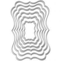 Carpeta troquel y grabado en relieve, Etiqueta, medidas 2,5x4-8x12 cm, 1 ud
