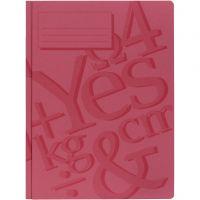 Carpetas de trabajo, A4, rojo, 100 ud/ 1 paquete