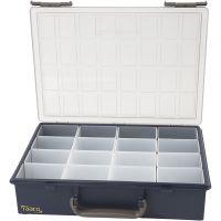 Caja de almacenaje, 16 cajas removibles, A: 8 cm, medidas 33,8x26,1 cm, 1 set