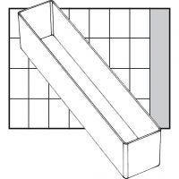Caja interior de almacenaje, medida A9-4, A: 47 mm, medidas 218x39 mm, 1 ud