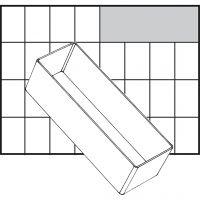 Caja interior de almacenaje, medida A8-2, A: 47 mm, medidas 157x55 mm, 1 ud