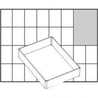Caja interior de almacenaje, medida A71 Low, A: 24 mm, medidas 109x79 mm, 1 ud