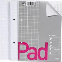 Bloc de hojas de libreta, cuadrícula, A5, 150x210 mm, 60 gr, 5 ud/ 1 paquete