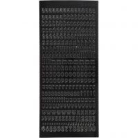 Pegatinas, 10x23 cm, negro, 1 hoja