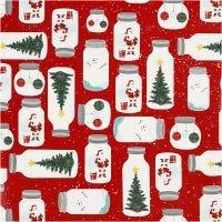 Papel de regalo, Navidad en un frasco, A: 57 cm, 80 gr, 150 m/ 1 rollo