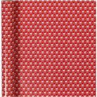 Papel de regalo, drum, A: 70 cm, 80 gr, rojo, blanco, 4 m/ 1 rollo