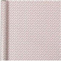 Papel de regalo, trumpet, A: 70 cm, 80 gr, rojo, blanco, 4 m/ 1 rollo