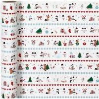 Papel de regalo, Arctic fun, A: 70 cm, 80 gr, 4 m/ 1 rollo