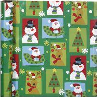 Papel de regalo, square Christmas, A: 70 cm, 80 gr, 4 m/ 1 rollo
