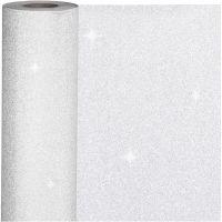 Papel de regalo, A: 50 cm, 80 gr, plata, 100 m/ 1 rollo