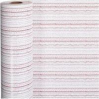 Papel de regalo, doodles, A: 57 cm, 80 gr, rojo, blanco, 150 m/ 1 rollo