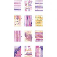 Divisor de índice, A5, 12 , dorado, morado, rosado, 1 ud/ 1 paquete