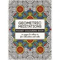 Libro para colorear, Geométrico, medidas 10,5x14,5 cm, 20 , 1 ud