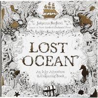 Libro para colorear, Océano perdido, medidas 25x25 cm, 80 , 1 ud