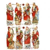 Cromos Vintage, Papá Noel, 16,5x23,5 cm, 3 hoja/ 1 paquete