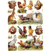 Cromos Vintage, Pascua, 16,5x23,5 cm, 3 hoja/ 1 paquete