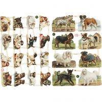 Cromos Vintage, perros, 16,5x23,5 cm, 2 hoja/ 1 paquete