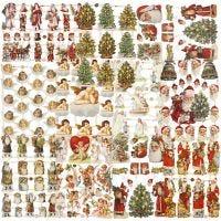 Cromos Vintage, Navidad, 16,5x23,5 cm, 30 hoja/ 1 paquete