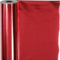 Papel para regalo, A: 50 cm, 65 gr, rojo, 100 m/ 1 rollo